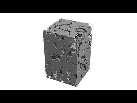 3D Modell - Mikrostruktur von Sinterkunststoff